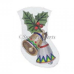 Christmas Bells Needlepoint Mini Stocking