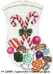 Christmas Candy Mini Stocking - Canvas Only