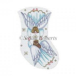 Angels Holding Hands Needlepoint Mini Stocking