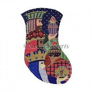 Three Kings Needlepoint Mini Stocking