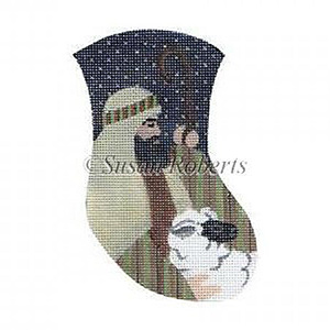 Shepherd & Lamb Needlepoint Mini Stocking