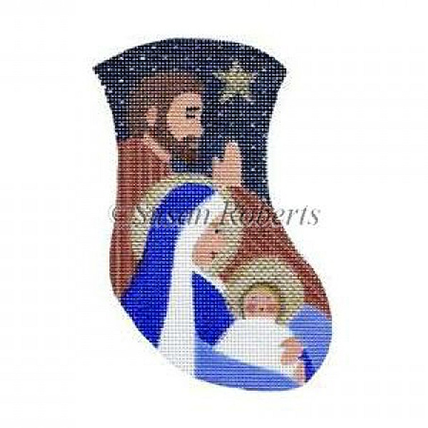 Madonna & Child Needlepoint Mini Stocking