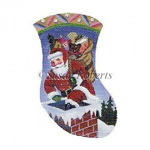 Santa Descends Needlepoint Canvas