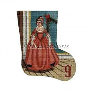 Lady Dancing - Day 9 Needlepoint Canvas