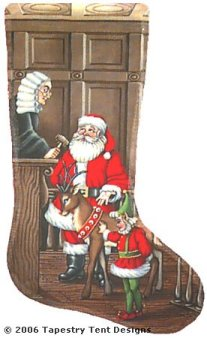 Santa Lawyer Needlepoint Stocking Canvas