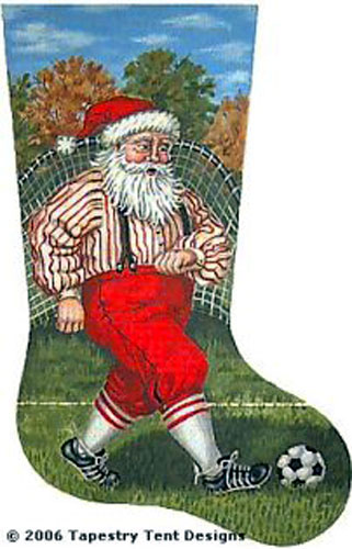 NeedlepointUS - World-class Needlepoint - Soccer Santa - 18 Count ...