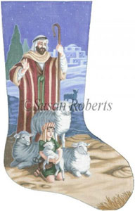 Shepherds Needlepoint Stocking Canvas
