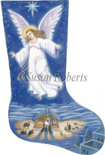 Needlepointus Angel Needlepoint Christmas Stocking Canvas