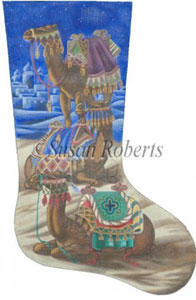 Camels Needlepoint Stocking Canvas