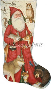 Santa and Woodland Animals