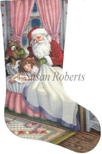 Special Delivery (Girl) Needlepoint Stocking Canvas
