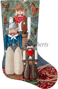 Cowboy Nutcracker Needlepoint Stocking Canvas