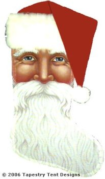 Santa Face Needlepoint Stocking Canvas