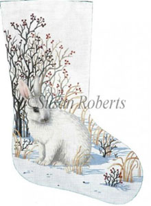Snow Bunny - 13 Count Needlepoint Stocking Canvas