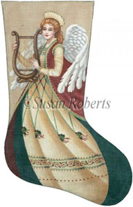 Flowing Angel Needlepoint Stocking Canvas