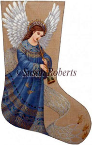 Flowing Angel 2 Needlepoint Stocking Canvas