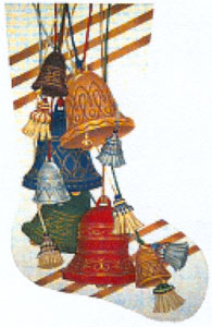Bells Needlepoint Stocking Canvas