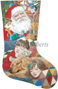 Christmas Eve Needlepoint Stocking Canvas
