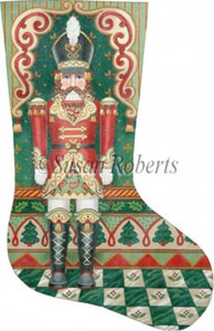 Nutcracker Christmas - 18 or 13 Count Needlepoint Stocking Canvas