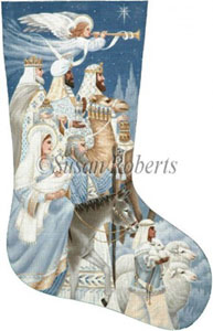 The Nativity Needlepoint Stocking Canvas