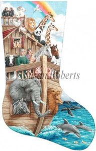 Noah's Ark Needlepoint Stocking Canvas