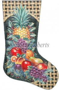 Christmas Fruit Needlepoint Stocking Canvas