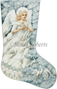 Enchanted Angel - 18 Count Needlepoint Stocking Canvas
