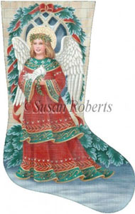 Christmas Angel Needlepoint Stocking Canvas