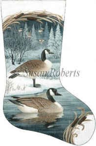 Canadian Geese Needlepoint Stocking Canvas