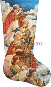 Heavenly Music Needlepoint Stocking Canvas