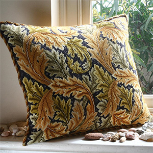 Beth Russell Needlepoint - Acanthus Leaves Collection - Acanthus Leaves Cushion - Gold - Kit