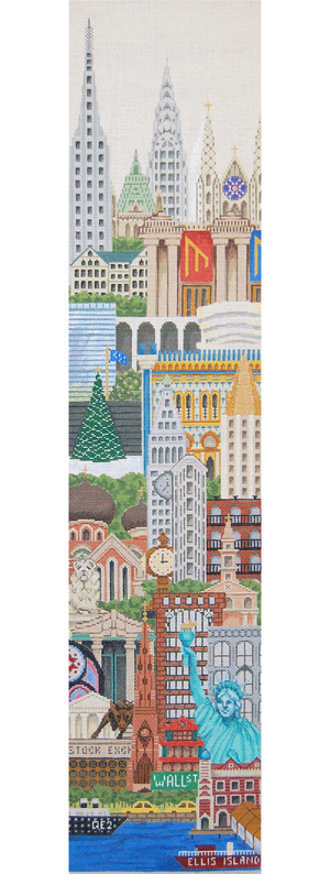 New York Needlepoint Bell Pull