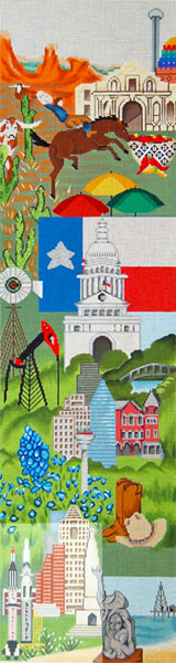Texas Needlepoint Bell Pull