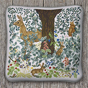 Beth Russell Needlepoint - Woodland Cushion Square