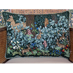 Beth Russell Needlepoint - Woodland Cushion Wide