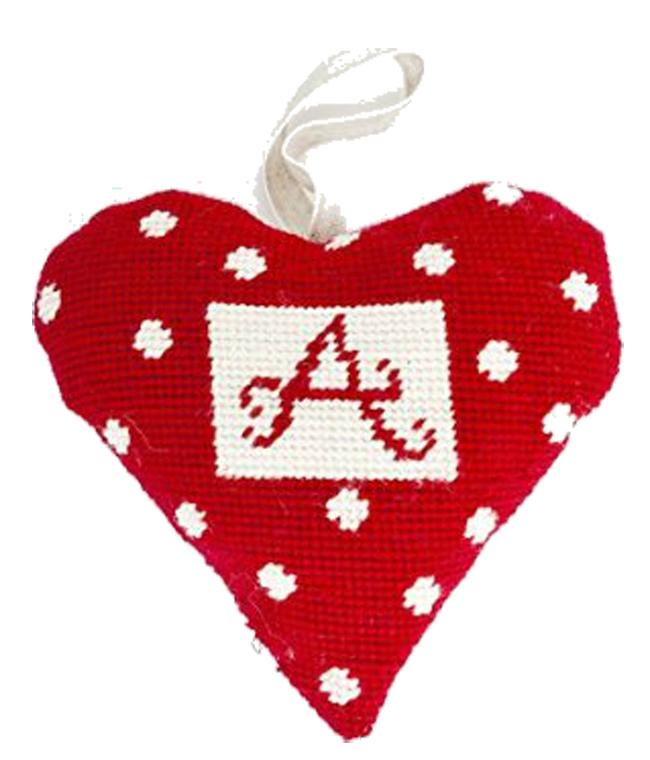 NeedlepointUS: Alphabet Needlepoint Ornament Kit ...