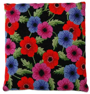 Anemone Needlepoint Herb Cushion Kit