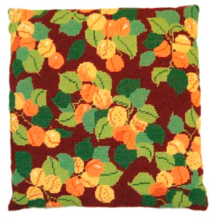 Apricots Needlepoint Herb Cushion Kit