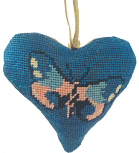 Butterfly Needlepoint Ornament Kit