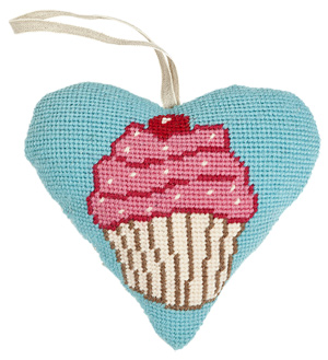 Cupcake Needlepoint Ornament Kit