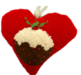 Christmas Pudding Needlepoint Ornament Kit