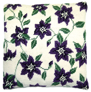 Clematis Needlepoint Herb Cushion Kit