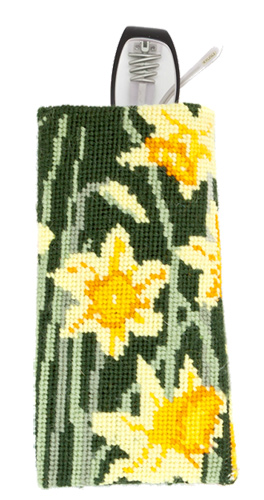 Daffodils Needlepoint Eyeglass or Phone Case Kit