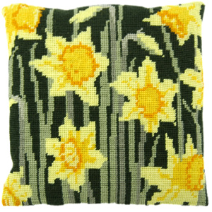 Daffodils Needlepoint Herb Cushion Kit