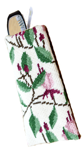 Fuchsia Needlepoint Eyeglass or Phone Case Kit