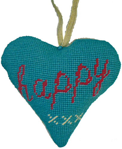 Happy Needlepoint Ornament Kit