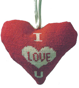 I Love You Needlepoint Ornament Kit