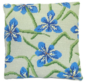 Iris Needlepoint Herb Cushion Kit