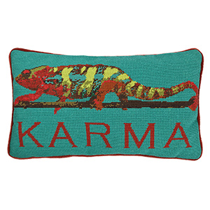 Karma Chameleon Needlepoint Pillow Kit