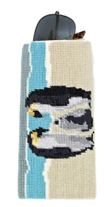 King Penguin Needlepoint Eyeglass or Phone Case Kit